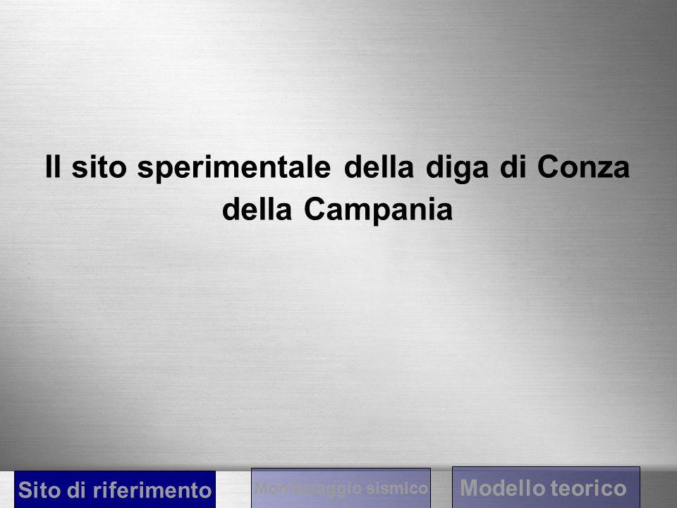 Il sito sperimentale della diga di Conza della Campania