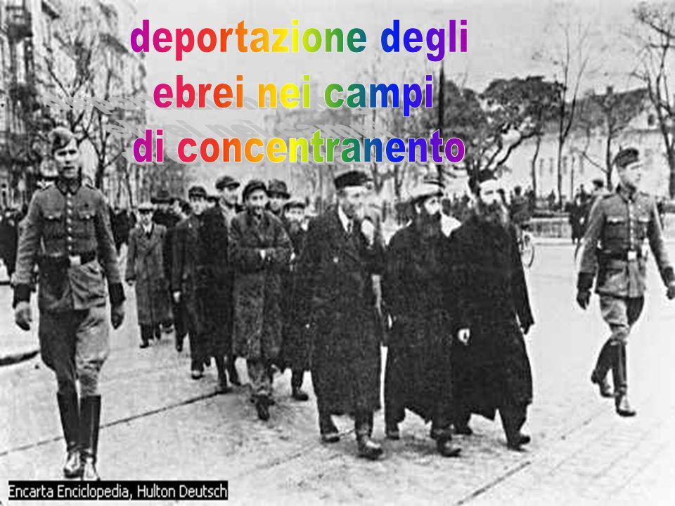 deportazione degli ebrei nei campi di concentranento .