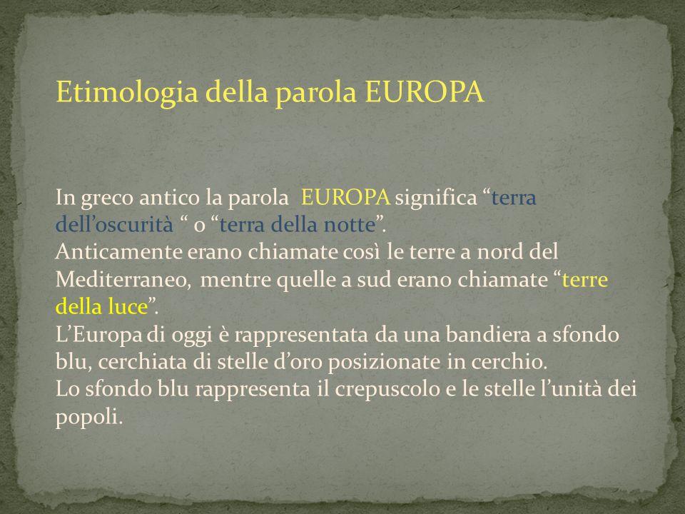 Etimologia della parola EUROPA
