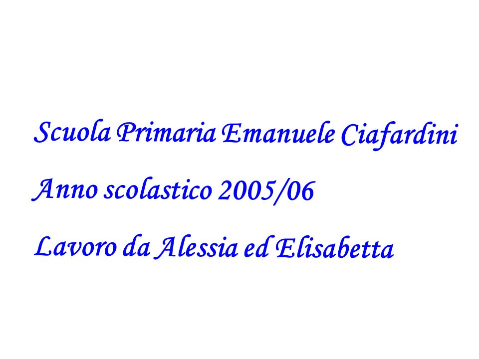 Scuola Primaria Emanuele Ciafardini