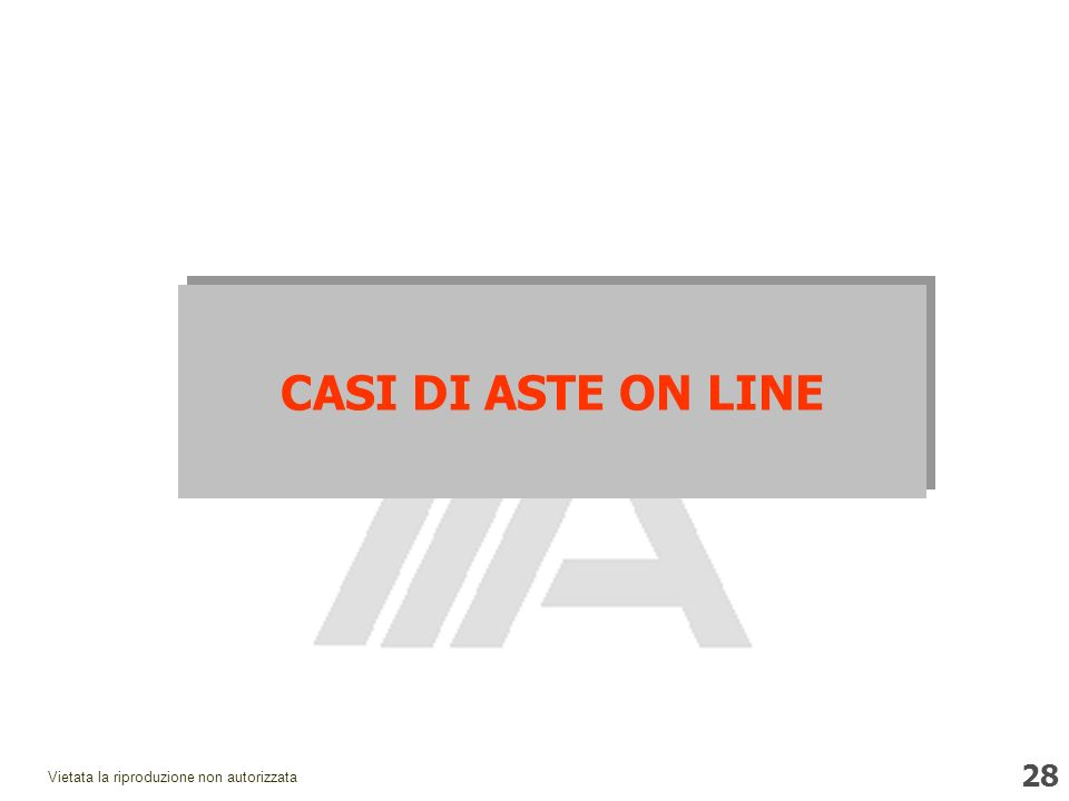 CASI DI ASTE ON LINE