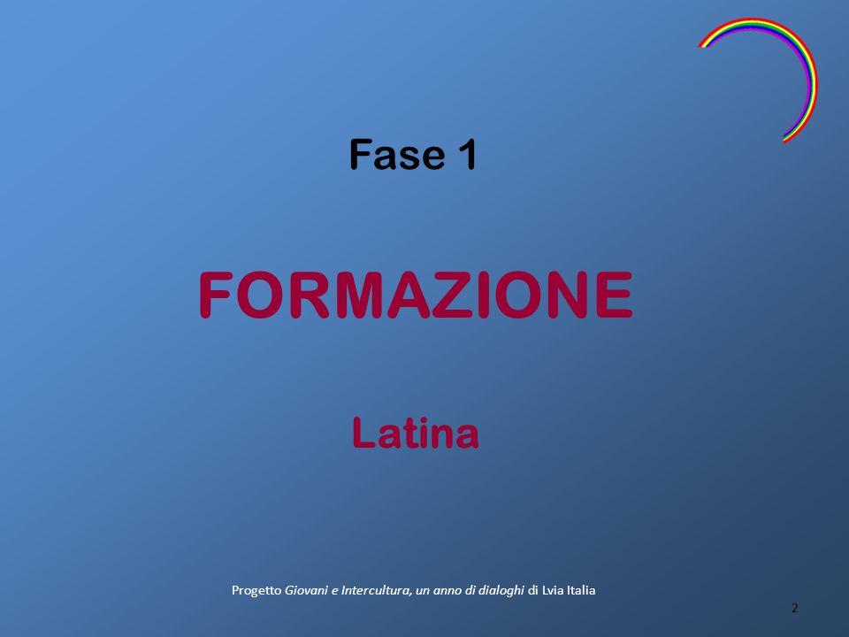 Fase 1 FORMAZIONE Latina