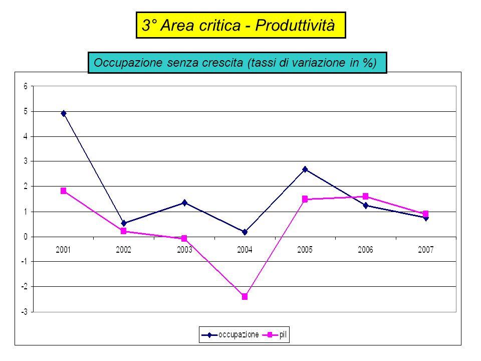 3° Area critica - Produttività