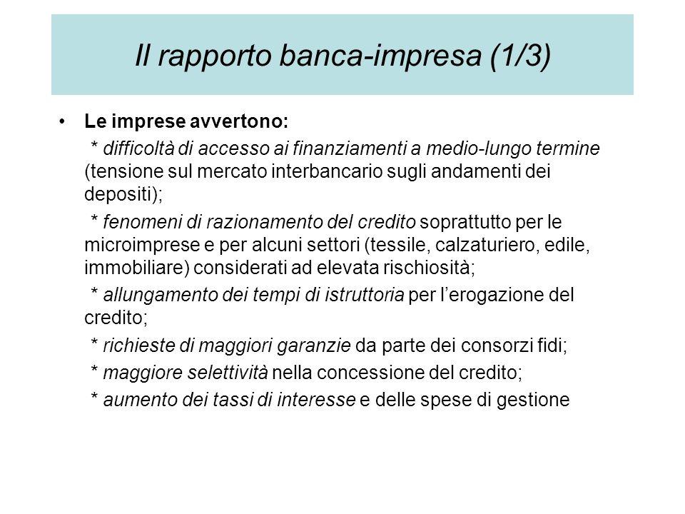 Il rapporto banca-impresa (1/3)