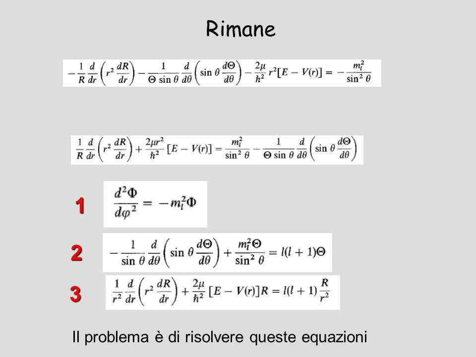Rimane 1 2 3 Il problema è di risolvere queste equazioni