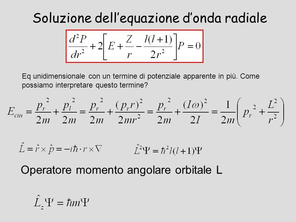 Soluzione dell'equazione d'onda radiale