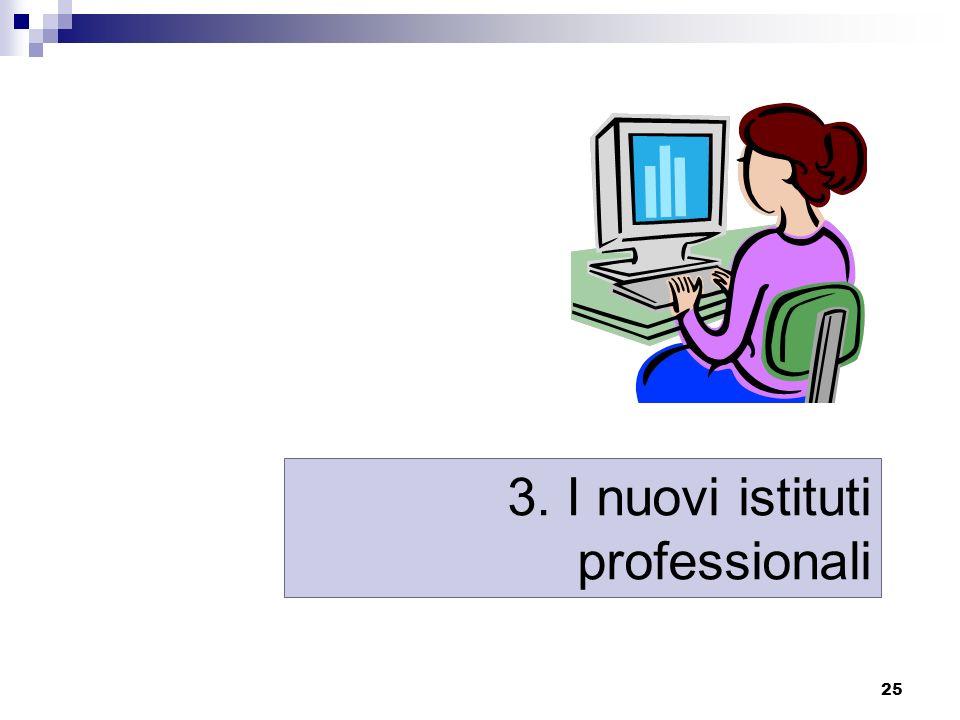 3. I nuovi istituti professionali