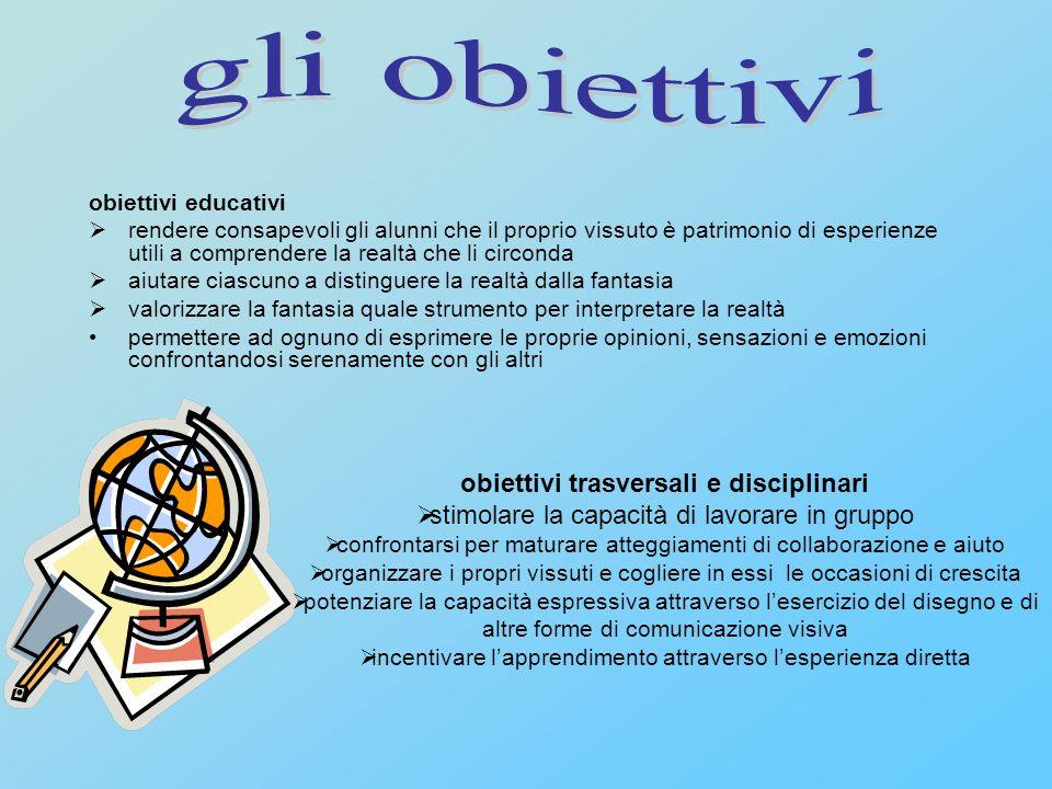 gli obiettivi obiettivi trasversali e disciplinari