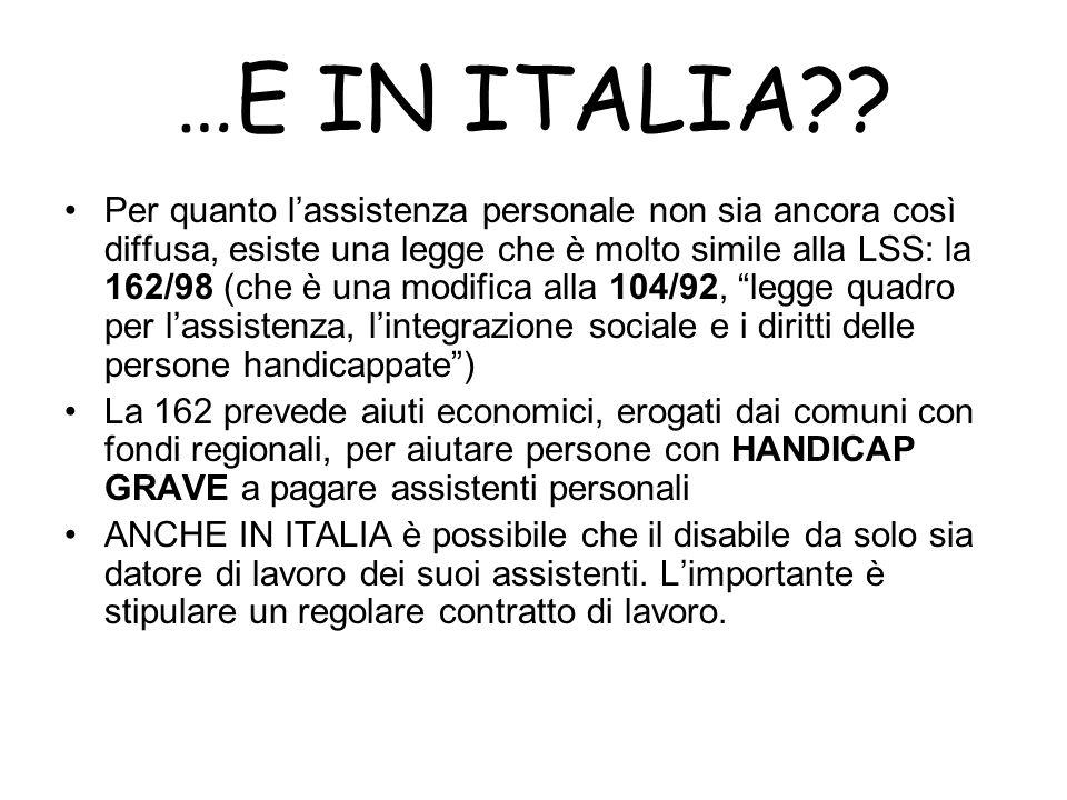 …E IN ITALIA