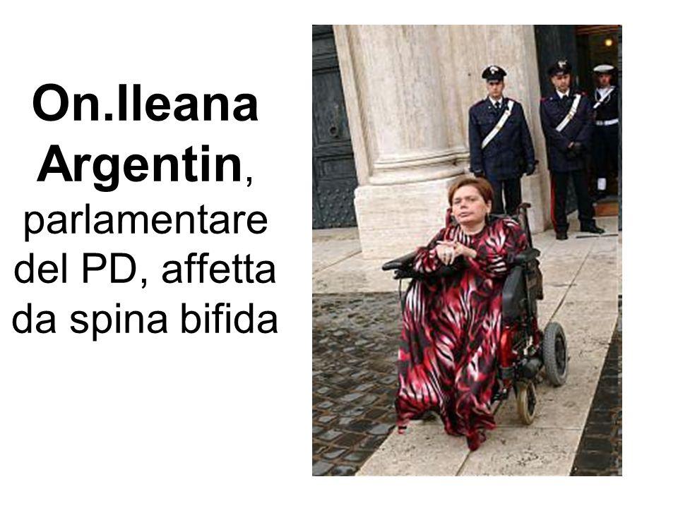 On.Ileana Argentin, parlamentare del PD, affetta da spina bifida