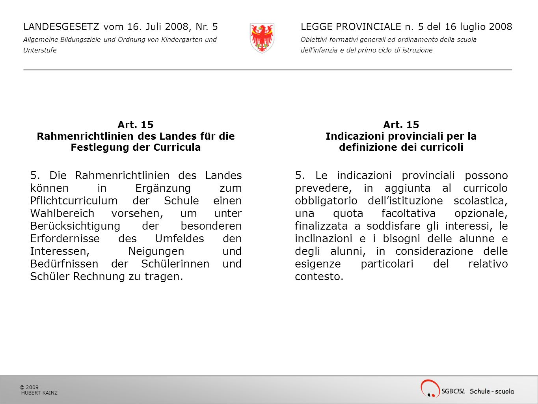 Indicazioni provinciali per la definizione dei curricoli