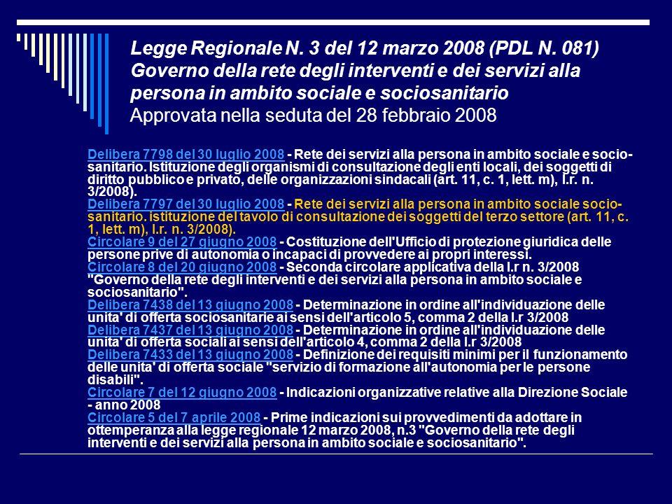 Legge Regionale N. 3 del 12 marzo 2008 (PDL N