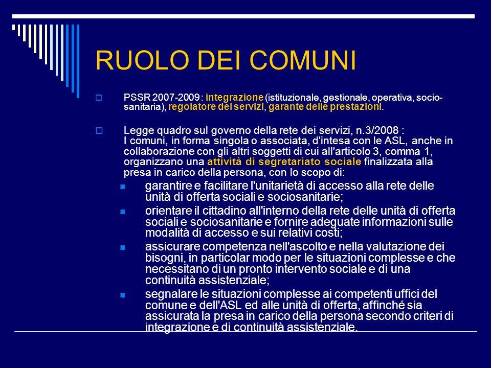 RUOLO DEI COMUNI