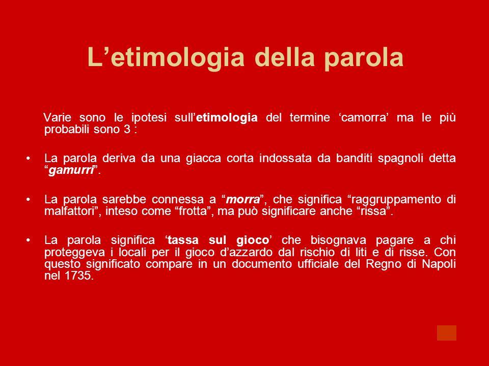 L'etimologia della parola