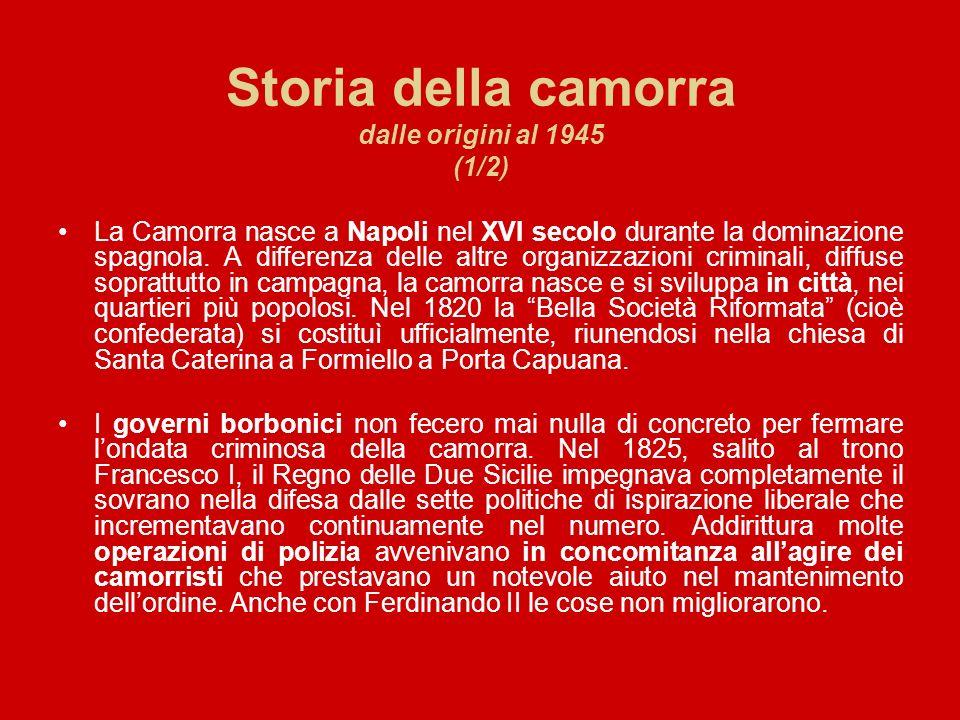 Storia della camorra dalle origini al 1945 (1/2)