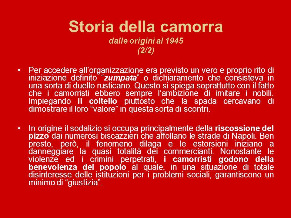 Storia della camorra dalle origini al 1945 (2/2)