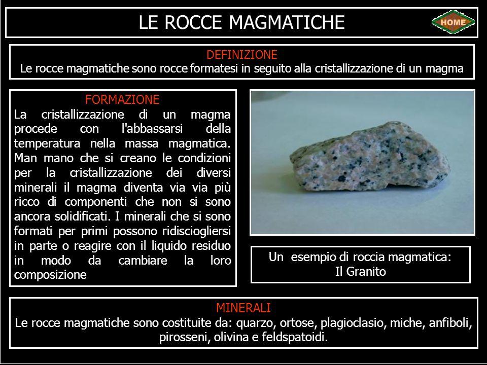 Un esempio di roccia magmatica:
