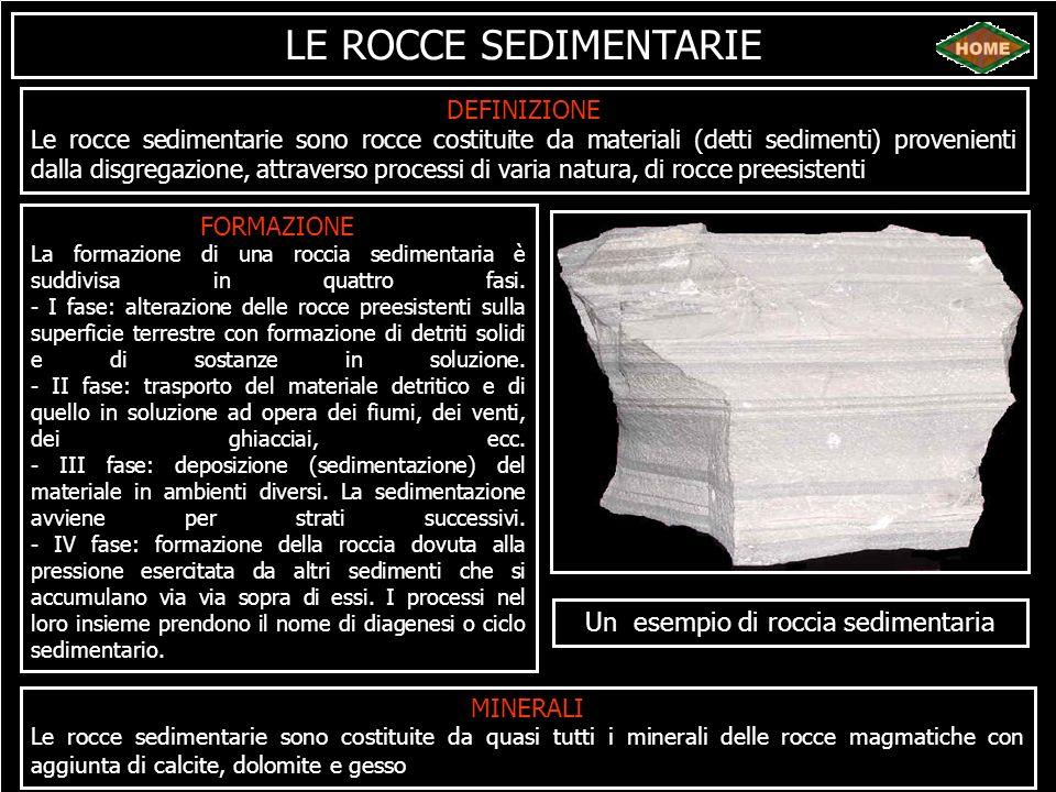 Un esempio di roccia sedimentaria