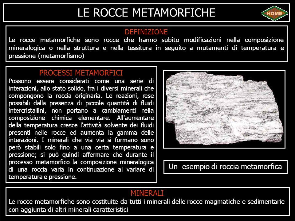 Un esempio di roccia metamorfica