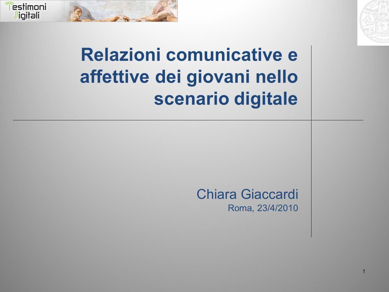 Relazioni comunicative e affettive dei giovani nello scenario digitale
