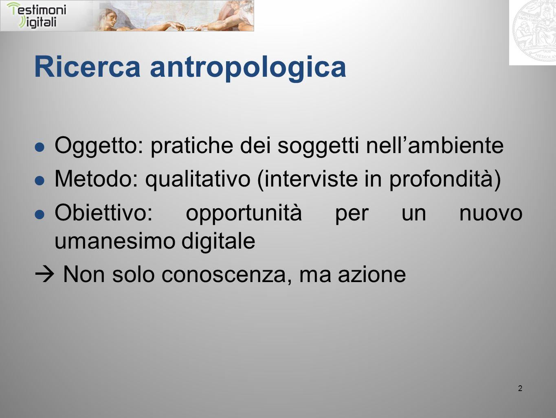 Ricerca antropologica