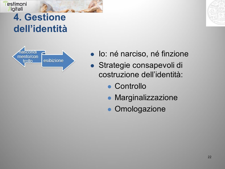 4. Gestione dell'identità