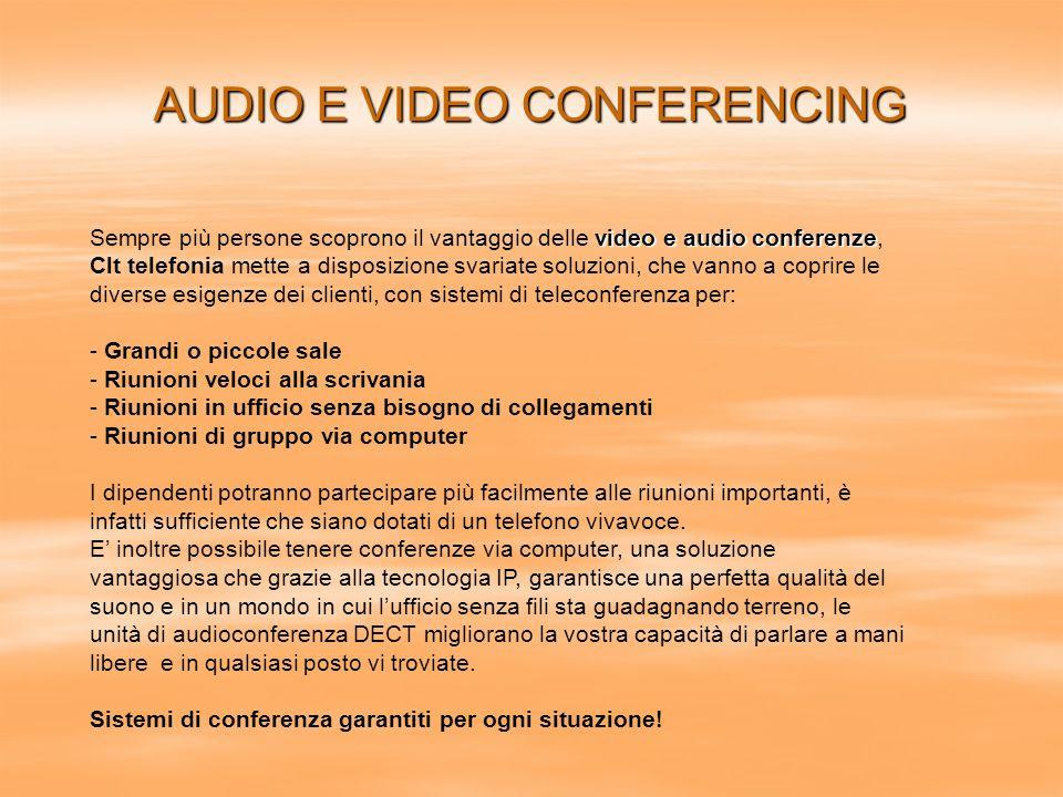 AUDIO E VIDEO CONFERENCING