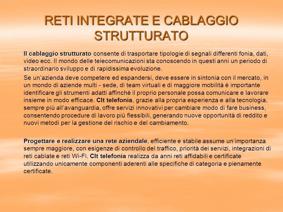 RETI INTEGRATE E CABLAGGIO STRUTTURATO