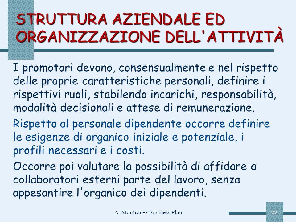 STRUTTURA AZIENDALE ED ORGANIZZAZIONE DELL ATTIVITÀ