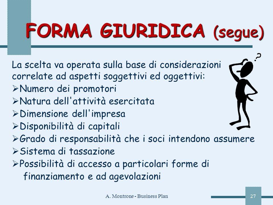 FORMA GIURIDICA (segue)