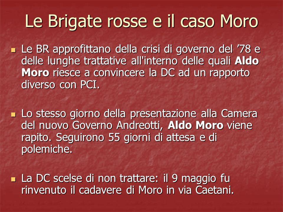Le Brigate rosse e il caso Moro