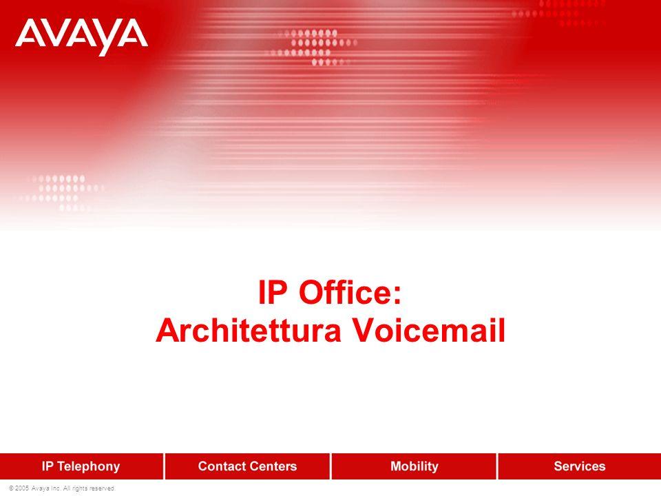 IP Office: Architettura Voicemail