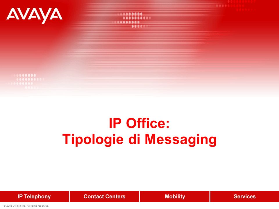 IP Office: Tipologie di Messaging