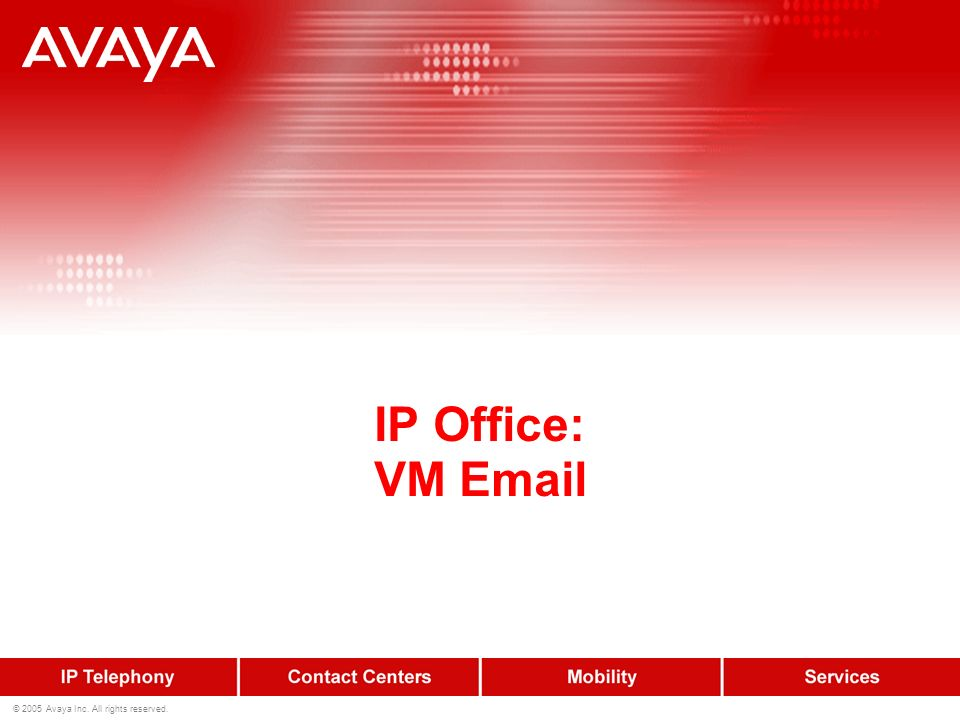 IP Office: VM