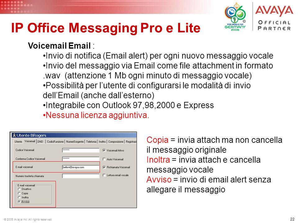 IP Office Messaging Pro e Lite