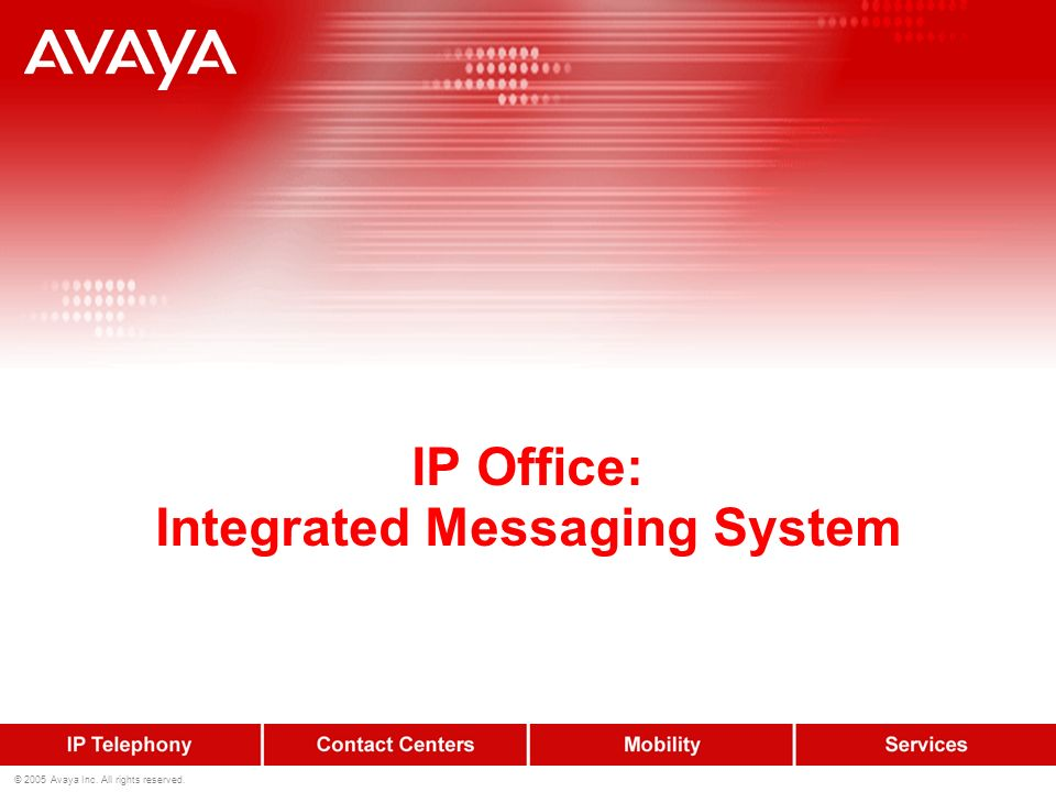 IP Office: Integrated Messaging System