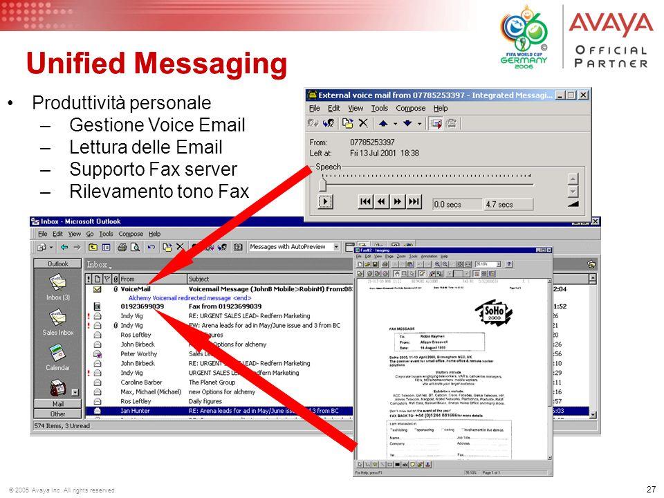 Unified Messaging Unified Messaging Produttività personale
