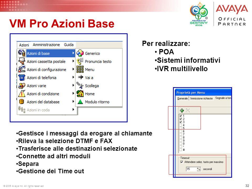 VM Pro Azioni Base Per realizzare: POA Sistemi informativi