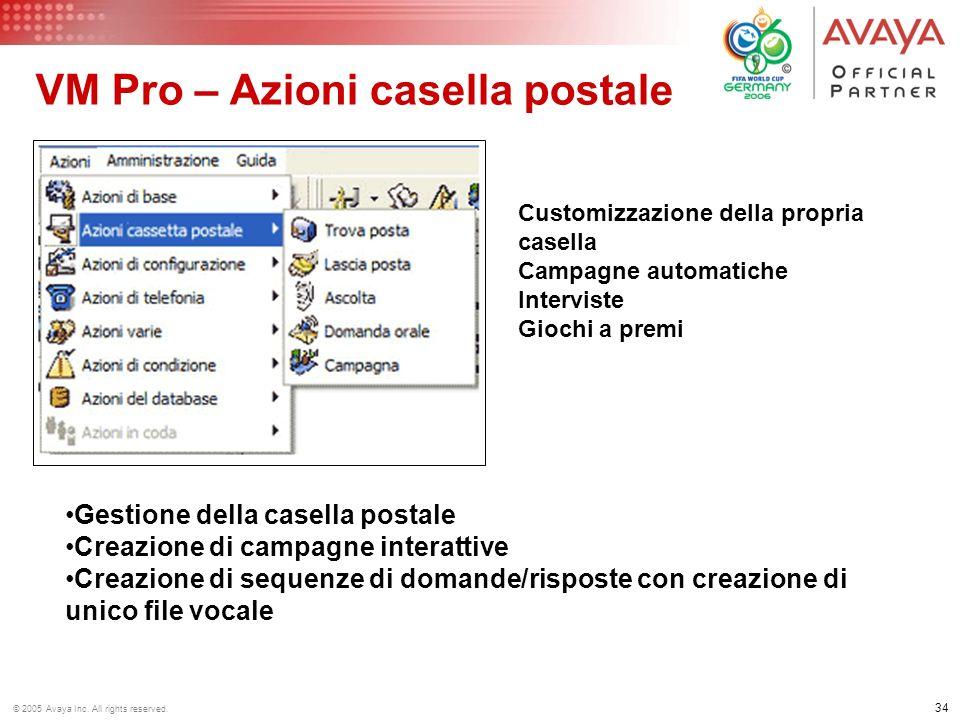 VM Pro – Azioni casella postale