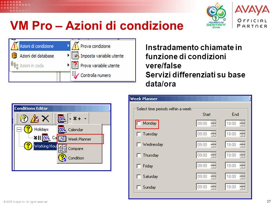 VM Pro – Azioni di condizione
