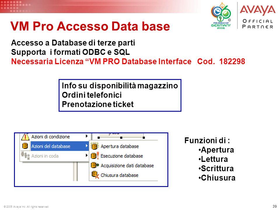 VM Pro Accesso Data base