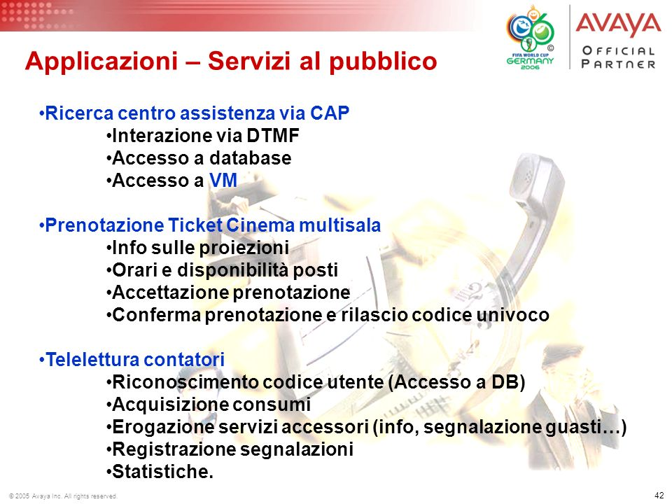 Applicazioni – Servizi al pubblico