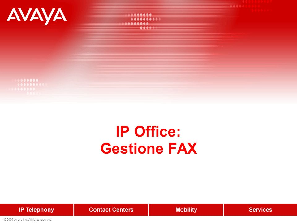 IP Office: Gestione FAX