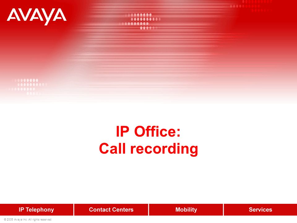 IP Office: Call recording