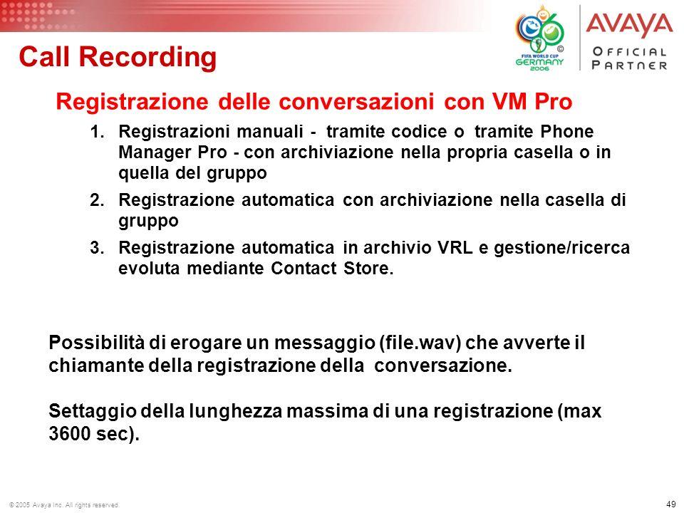 Call Recording Registrazione delle conversazioni con VM Pro