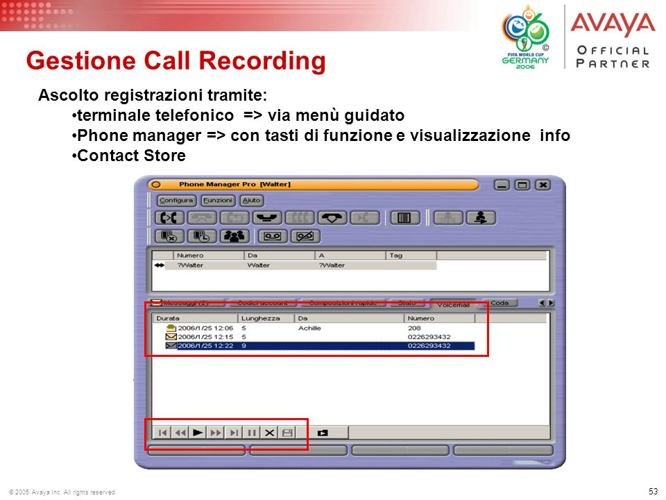 Gestione Call Recording