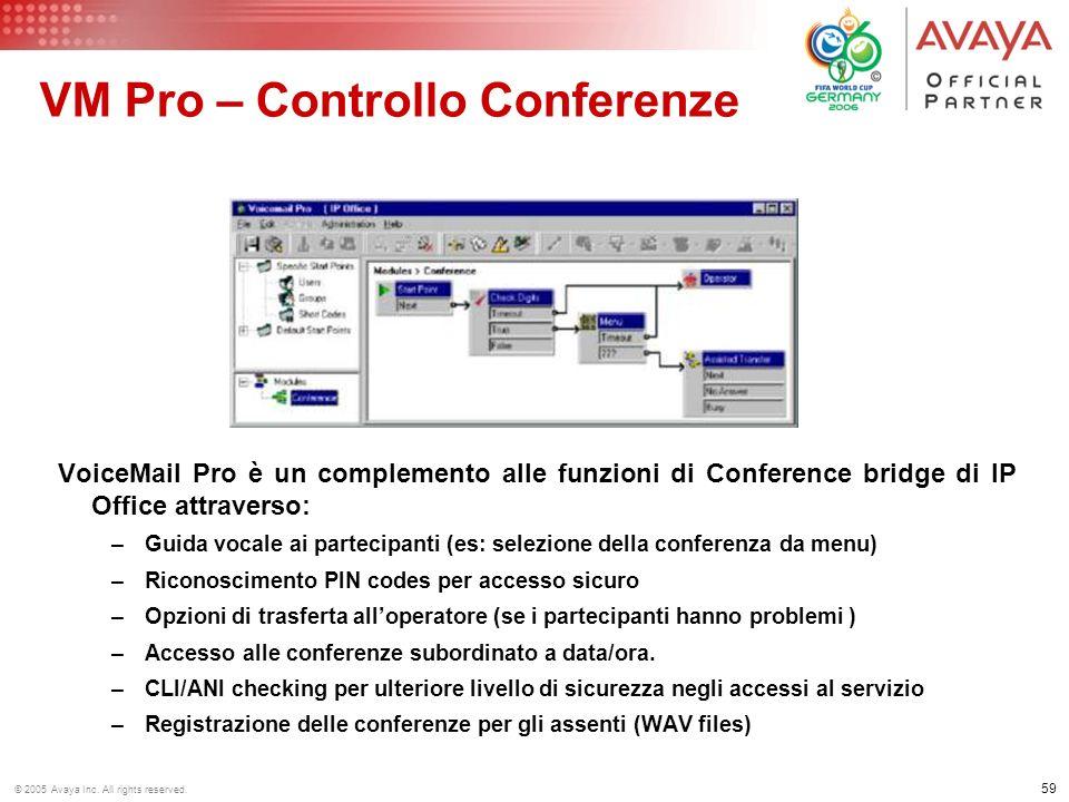 VM Pro – Controllo Conferenze