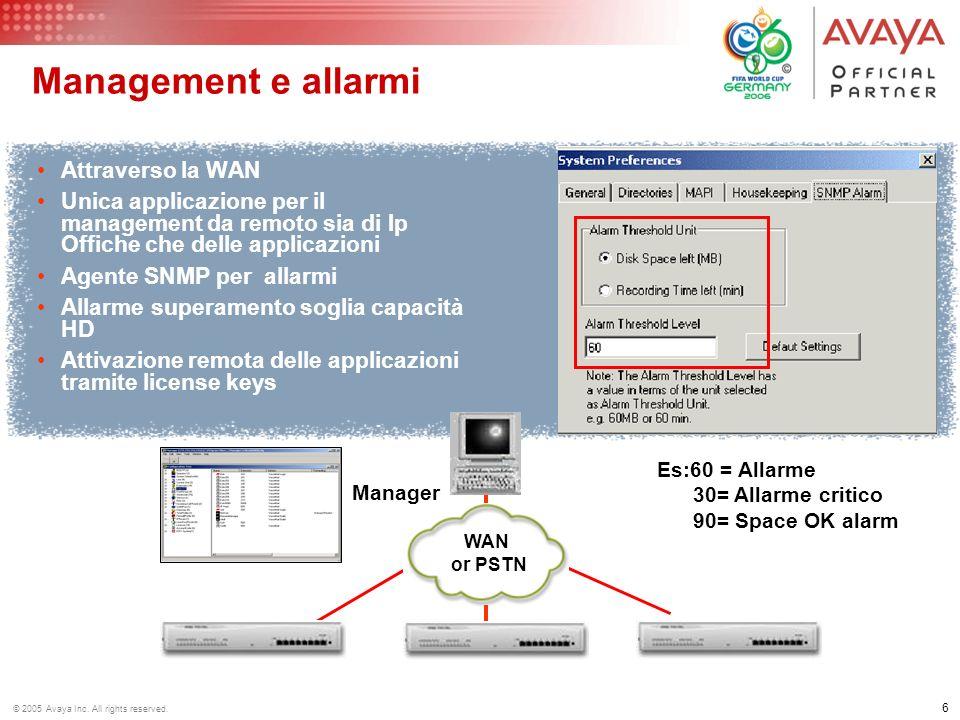 Management e allarmi Attraverso la WAN
