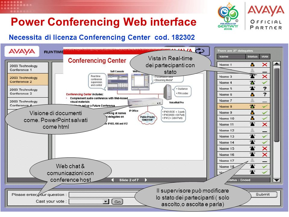 Power Conferencing Web interface
