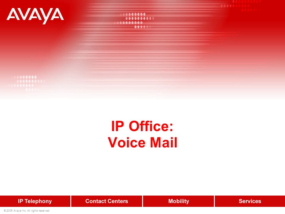 IP Office: Voice Mail